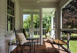 Farmhouse Patio Furniture Front Screen Porch Porch Farmhouse With Massachusetts Teak Outdoor