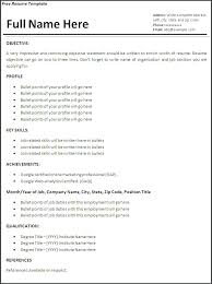 Microsoft Word Resume Templates Free Sample Resume Format Download In Ms Word Download Free Resume