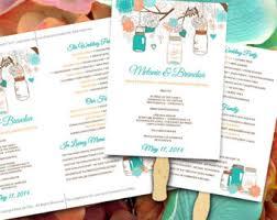 Wedding Fan Programs Diy Wedding Fan Template Fan Program Template Diy Wedding