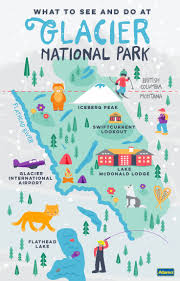 Utah National Park Map by Best 25 Glacier National Park Map Ideas Only On Pinterest