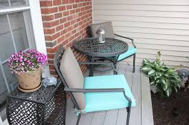 Patio Bistro Table Small Front Porch Transformed With A Patio Bistro Set