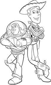 woody buzz lightyear sheriff woody coloring kids