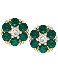 emerald green earrings emerald earrings shop emerald earrings macy s