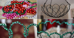 Ornament Chandelier Diy by Mardi Gras Beads Redux Funkytown Ceiling Lamp Aunt Peaches