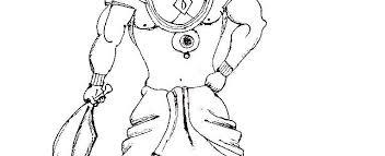 a pen sketch of ravana u2013 the indian gene