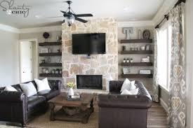diy livingroom diy floating shelves for my living room shanty 2 chic