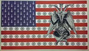 Flag With Bible Baphomet Satanic American Flag Giant 42 X 24