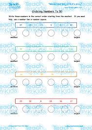ordering numbers to 50 teach my kids