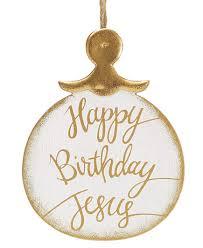 white gold happy birthday jesus ornament dresses