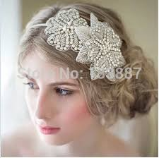 vintage headbands vintage style embroidery flower lace bridal hair jewelry clear