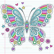floral patterns with butterflies vector illustration desenhos