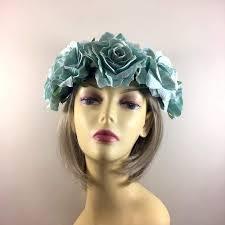 hair fascinators duck egg flower crown hair garland hair crowns flower garlands