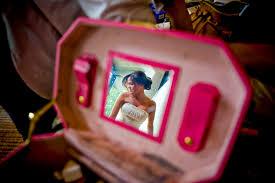 Bridal Makeup Box Bride Reflected Mirror Makeup Case First Romanian Pentacostal