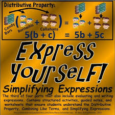 simplifying expressions using distributive property and combining