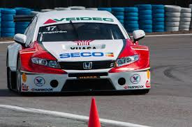 honda accord ricer engström motorsport completes first test with new honda civic