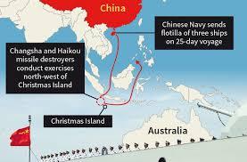 chinese naval ships close to australia u0027get used to it u0027 experts warn