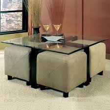 Coffee Table With Ottoman Seating Coffee Table Ottoman With Seating Glass Coffee Table And 4