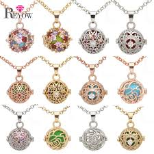small crystal necklace images Reyow 1pc aromatherapy pendant necklace crystal small pearl cage jpg