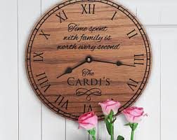 personalized clocks with pictures personalized clocks etsy