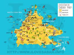 Sabah travel and islands maps ilovesabah