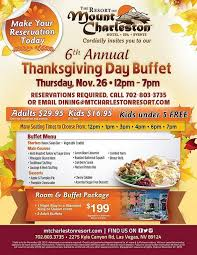 annual thanksgiving buffet at the scenic resort at mount charleston