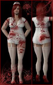 Bloody Nurse Halloween Costume Mod Sims Size Clothing Nurse
