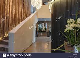 Gold Metallic Curtains Gold Metallic Curtains On Stairs In Modern With Pot Of White