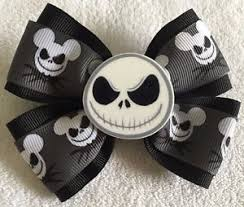 skellington ribbon hair bow 4 wide skellington ribbon black flatback