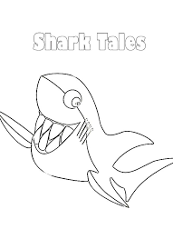 shark tale smiling white shark coloring pages batch coloring