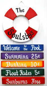 personalized outdoor pool sign welcome to by uniquelycraftedsigns