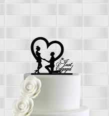 engagement cake toppers engagement cake topper just engaged cake topper wedding cake