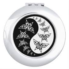yin yang design compact mirrors makeup tools zazzle