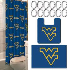 Wvu Home Decor Ncaa West Virginia Universitymountaineers Bathroom Set