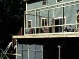 Turn Deck Into Sunroom Before And After Installation Of A Three Season Sunroom Youtube