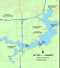springfield map lake profile springfield lake