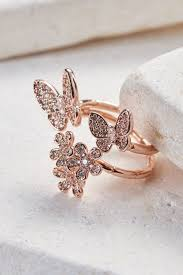 butterfly rings gold images Garden butterfly ring white gold rose gold yellow gold plated jpg