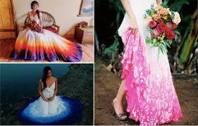 tie dye wedding dress 12 original dip dyed wedding dresses womanistic