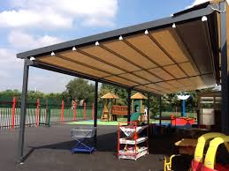 Pergola Awning Retractable by Retractable Pergola Frame Awnings For Schools U0026 Colleges