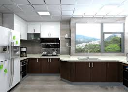 Veneer Kitchen Cabinets by Black White Painting Wood Veneer Kitchen Cupboards Big Size For Home