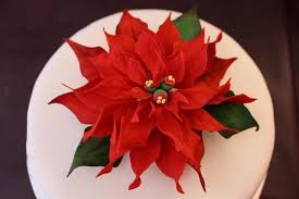 Christmas Cake Decorations Poinsettia by Wired Christmas Cake Decoration Large Poinset Folksy