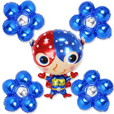 large birthday balloons 5pcs large size captain america foil balloons with blue color