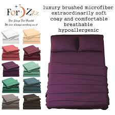 1000tc 4 pieces ultra soft bed linen sheets sets for single ks