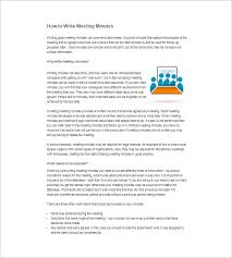 how to write sample meeting minutes u2013 12 free online tutorials