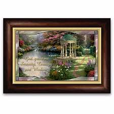 serenity prayer picture frame kinkade serenity prayer illuminated box at