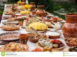 table full of food homemade moldavian food stock photo image of pottery 50575136