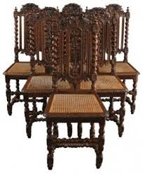 Dining Chair Wood Carved Oak Chairs Foter
