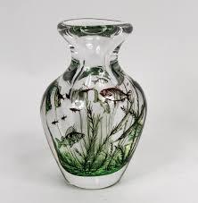 Orrefors Vase Vase With Fish By Orrefors Art Glass Valerio Art Deco