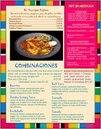 beana u0027s mexican restaurant rahway n j menu