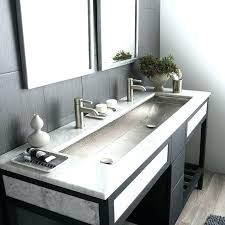trough sink with 2 faucets bathroom sink with 2 faucets faucets interesting sinks double trough