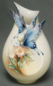 Franz Butterfly Vase Franz Collection Fluttering Beauty At Replacements Ltd